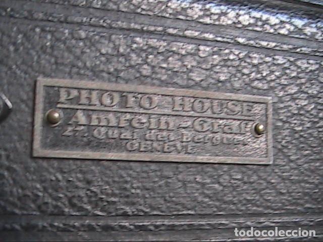 Cámara de fotos: CÁMARA DE PLACAS 6X9-9X12CM. IHAGEE. OBJETIVO COMPUR. MUNICH. 1920. - Foto 7 - 142314426