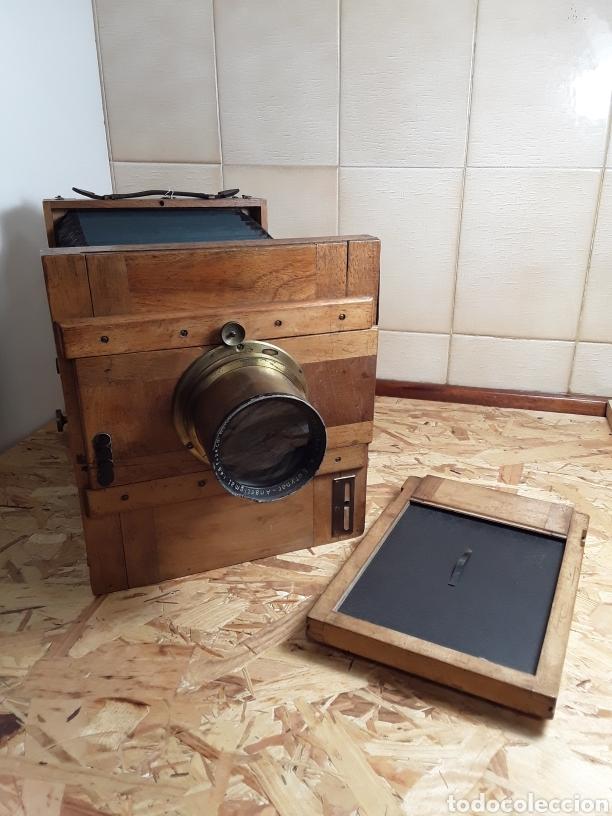 CÁMARA DE FUELLE DE MADERA AÑO 1900 (Cámaras Fotográficas - Antiguas (hasta 1950))