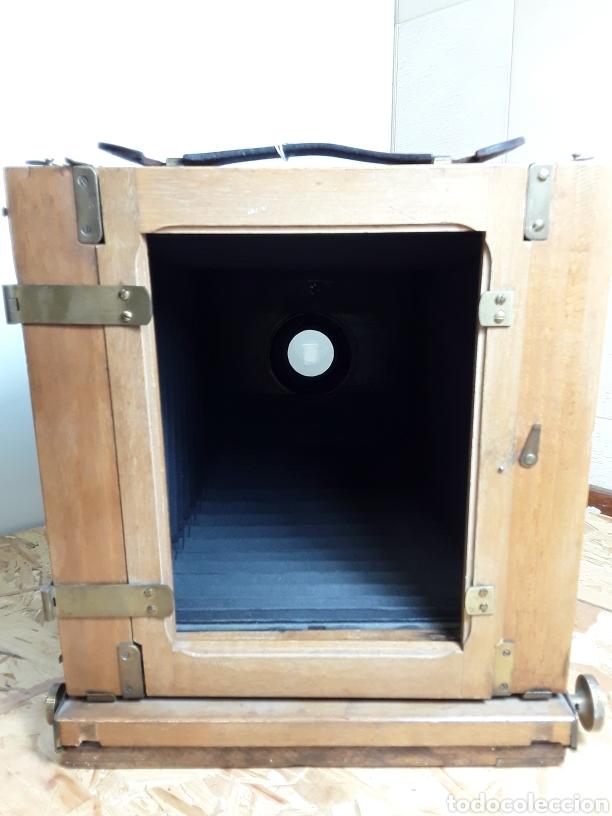 Cámara de fotos: Cámara de fuelle de madera año 1900 - Foto 6 - 142593928
