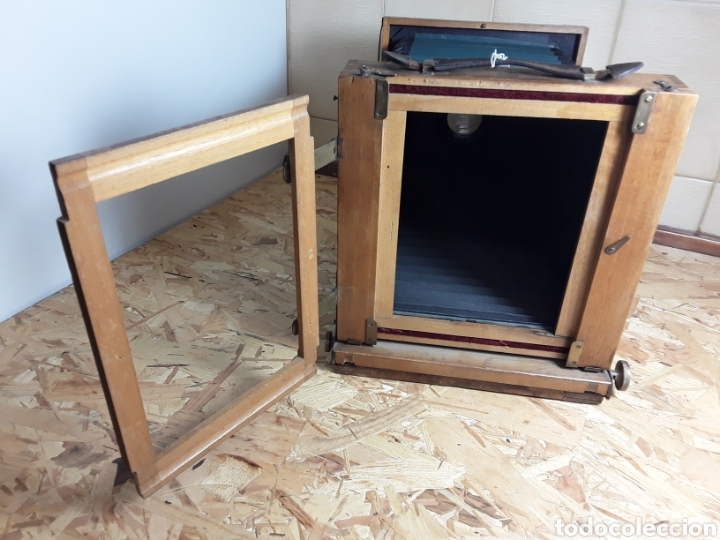 Cámara de fotos: Cámara de fuelle de madera año 1900 - Foto 8 - 142593928