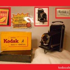 Cámara de fotos: IMPRESIONANTE MODELO DE CÁMARA KODAK A MODELO 11 CON SU CAJA., KODAK MODEL A MODEL 11 CON SU CAJA UN. Lote 115090555