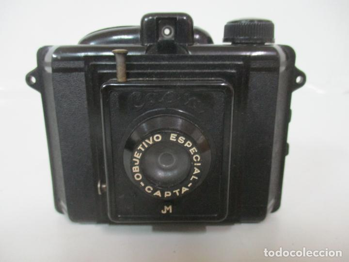 Cámara de fotos: Antigua Cámara Capta, Modelo 2 - Baquelita con Funda Original - Fabricada en Valencia - Foto 3 - 143358702