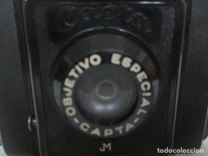 Cámara de fotos: Antigua Cámara Capta, Modelo 2 - Baquelita con Funda Original - Fabricada en Valencia - Foto 4 - 143358702