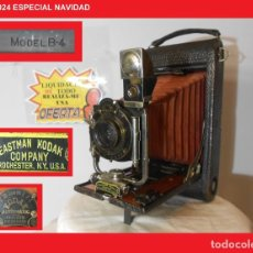 Cámara de fotos: ENORME D MADERA Y FUELLE ROJO...KODAK 3A FOLDING POCKET MODEL B-4..USA 1903 ÓPTIMO ESTADO ESTÉTICO. Lote 147006600