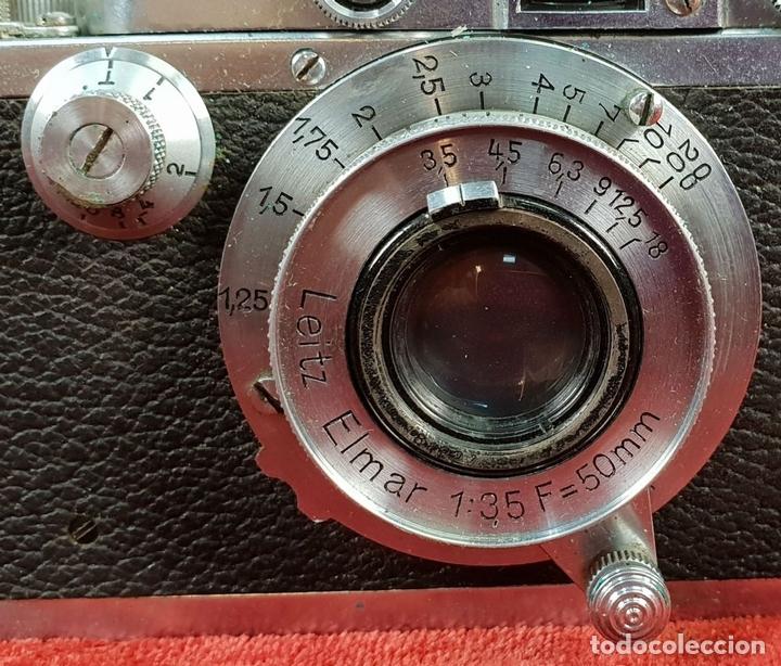 Cámara de fotos: CAMÁRA FOTOGRAFICA LEICA IIIA. MODELO G. ACABADO CROMO. ALEMANIA. CIRCA 1936. - Foto 8 - 144429442