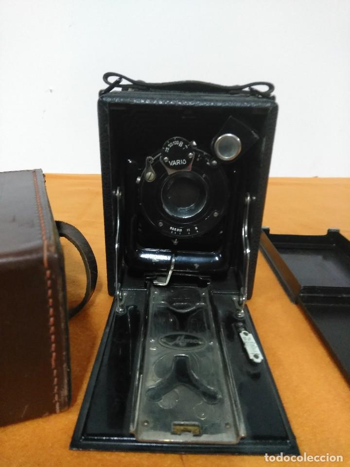 ANTIGUA CAMARA DE FOTOS DE FUELLE VARIO CON PORTAFOTOGRAFIAS DE CAJON (Cámaras Fotográficas - Antiguas (hasta 1950))