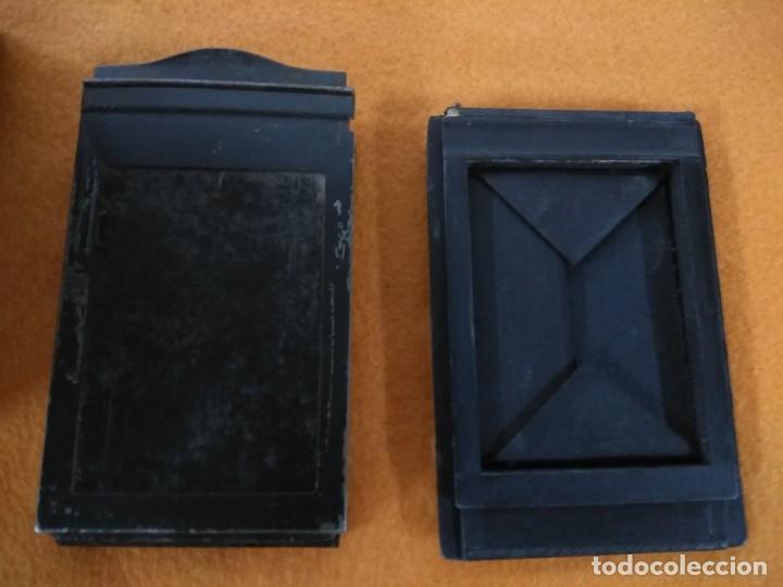 Cámara de fotos: antigua camara de fotos de fuelle vario con portafotografias de cajon - Foto 4 - 148807178
