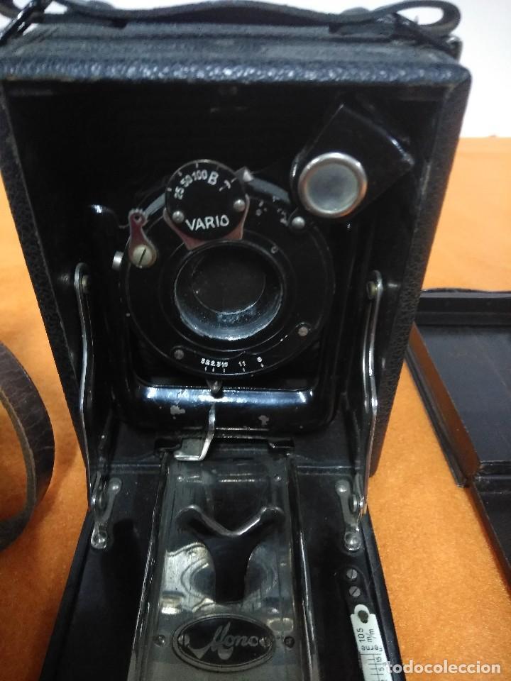 Cámara de fotos: antigua camara de fotos de fuelle vario con portafotografias de cajon - Foto 16 - 148807178