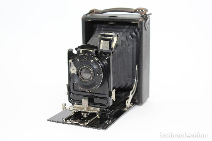 Cámara de fotos: Cámara Clásica: Ernemann HEAG I.Cámara de madera. Placas 6.5x9 cm. Alemania c1909-1926. - Foto 5 - 150146278