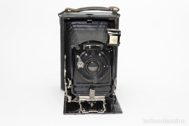Cámara de fotos: Cámara Clásica: Ernemann HEAG I.Cámara de madera. Placas 6.5x9 cm. Alemania c1909-1926. - Foto 6 - 150146278