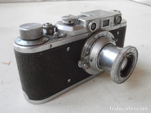 ANTIGUA CÁMARA DE FOTOS FOTOGRÁFICA SOVIÉTICA RUSA URSS ALEMANA MODELO ZORKI 1 LEICA II AÑO 1949 (Cámaras Fotográficas - Antiguas (hasta 1950))