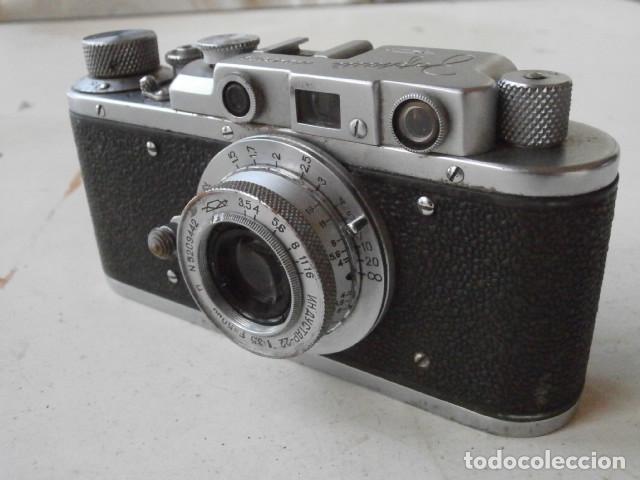 Cámara de fotos: Antigua cámara de fotos fotográfica soviética rusa URSS alemana modelo Zorki 1 Leica II año 1949 - Foto 3 - 150836190