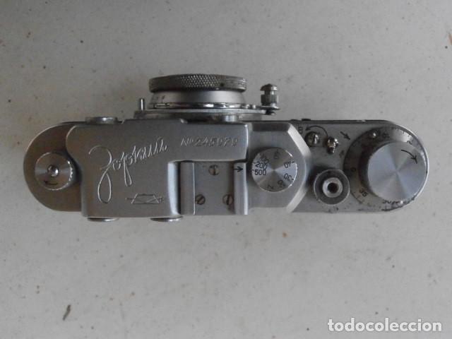 Cámara de fotos: Antigua cámara de fotos fotográfica soviética rusa URSS alemana modelo Zorki 1 Leica II año 1949 - Foto 7 - 150836190
