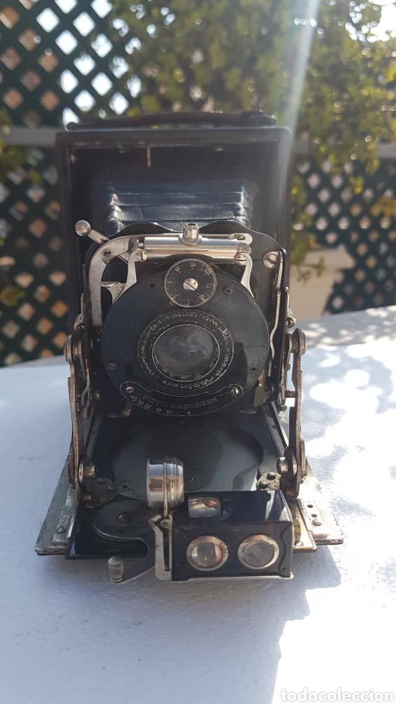 Cámara de fotos: Rara camara fotografica de fuelle ica cupido modell 1909 - Foto 3 - 152294252