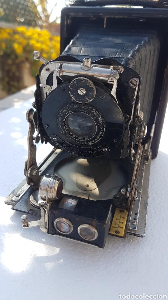 Cámara de fotos: Rara camara fotografica de fuelle ica cupido modell 1909 - Foto 14 - 152294252