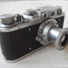 Cámara de fotos: ANTIGUA CÁMARA DE FOTOS FOTOGRÁFICA SOVIÉTICA RUSA URSS ALEMANA MODELO ZORKI 1 LEICA II AÑO 1949. Lote 152365098