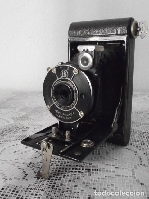ANTIGUA CÁMARA FOTOGRÁFICA DE FOTOS DE FUELLE PLEGABLE KODAK MODELO VEST POCKET AMERICANA AÑO 1927 (Cámaras Fotográficas - Antiguas (hasta 1950))