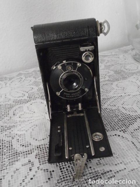 Cámara de fotos: Antigua cámara fotográfica de fotos de fuelle plegable Kodak modelo Vest Pocket americana año 1927 - Foto 4 - 152641750