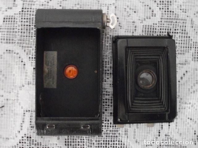 Cámara de fotos: Antigua cámara fotográfica de fotos de fuelle plegable Kodak modelo Vest Pocket americana año 1927 - Foto 7 - 152641750