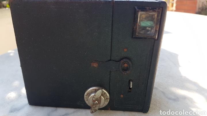 Cámara de fotos: Antigua camara cajon fotografica Coronet objectif meniscope tiranty - Foto 3 - 153463018