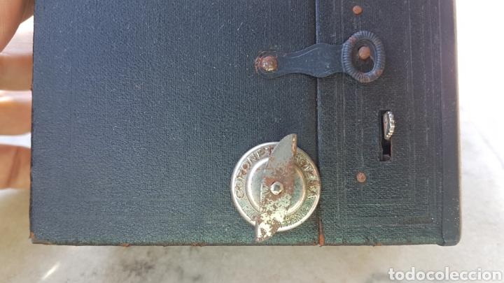 Cámara de fotos: Antigua camara cajon fotografica Coronet objectif meniscope tiranty - Foto 4 - 153463018
