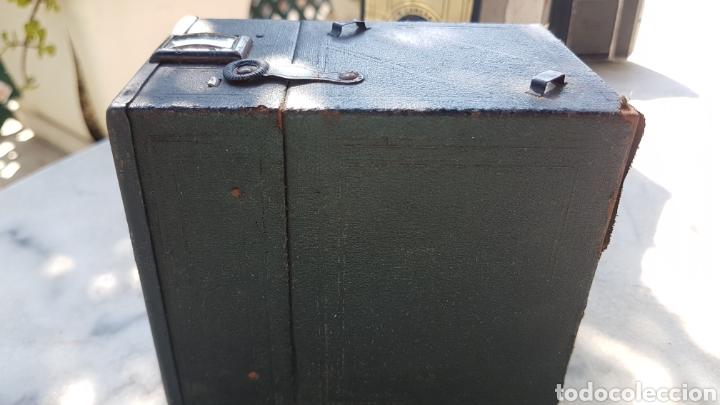 Cámara de fotos: Antigua camara cajon fotografica Coronet objectif meniscope tiranty - Foto 7 - 153463018