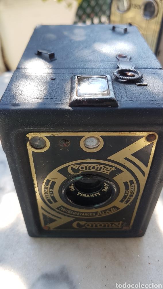 Cámara de fotos: Antigua camara cajon fotografica Coronet objectif meniscope tiranty - Foto 8 - 153463018