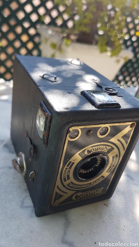 Cámara de fotos: Antigua camara cajon fotografica Coronet objectif meniscope tiranty - Foto 9 - 153463018