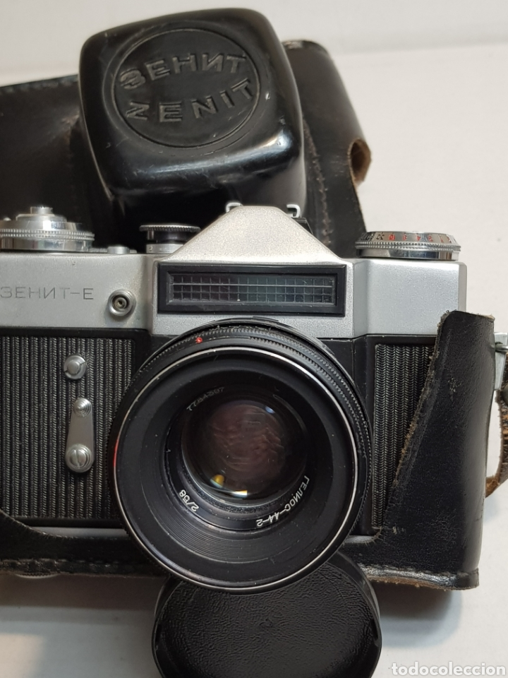 CÁMARA DE FOTOS ANTIGUA ZENIT EN FUNDA ORIGINAL (Cámaras Fotográficas - Antiguas (hasta 1950))