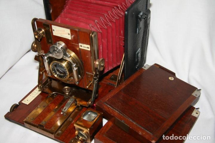 Cámara de fotos: Camara de madera Sanderson IMPECABLE - Foto 3 - 153799138