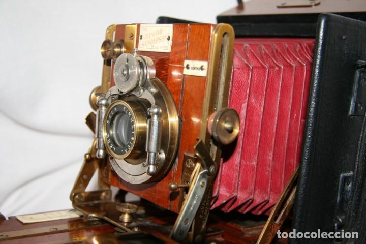 Cámara de fotos: Camara de madera Sanderson IMPECABLE - Foto 6 - 153799138