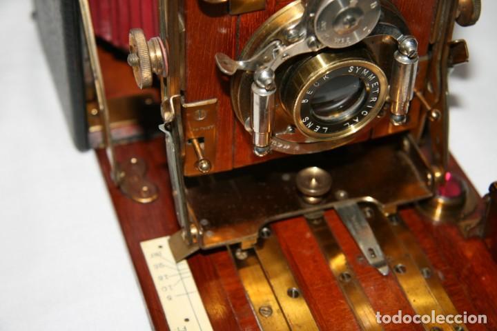 Cámara de fotos: Camara de madera Sanderson IMPECABLE - Foto 7 - 153799138