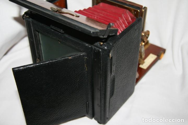 Cámara de fotos: Camara de madera Sanderson IMPECABLE - Foto 13 - 153799138