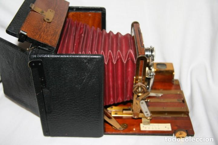 Cámara de fotos: Camara de madera Sanderson IMPECABLE - Foto 14 - 153799138
