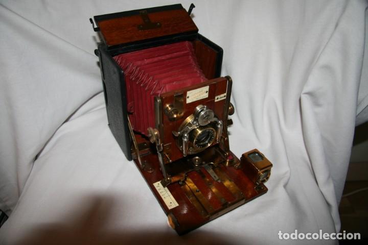Cámara de fotos: Camara de madera Sanderson IMPECABLE - Foto 15 - 153799138