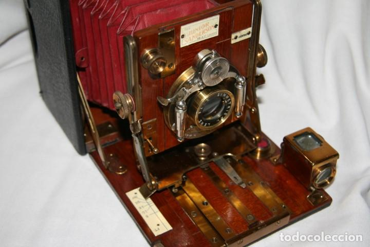 Cámara de fotos: Camara de madera Sanderson IMPECABLE - Foto 16 - 153799138