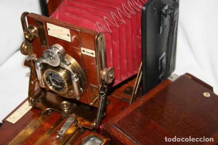 Cámara de fotos: Camara de madera Sanderson IMPECABLE - Foto 2 - 153799138