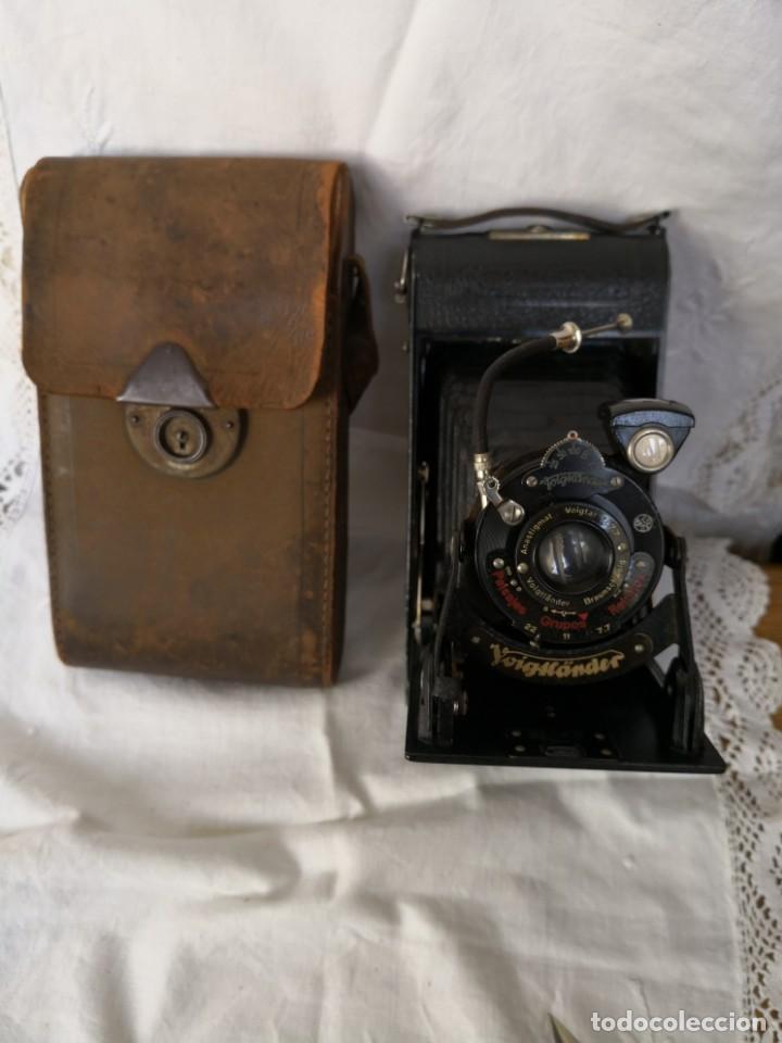 VOIGTLANDER BESSA - CAMARA DE FUELLE - 1929-LENTE VOIGTAR 1:7,7 (Cámaras Fotográficas - Antiguas (hasta 1950))
