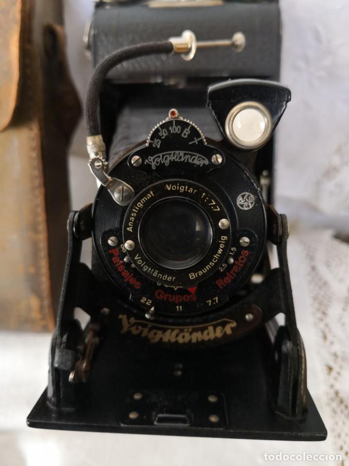 Cámara de fotos: VOIGTLANDER BESSA - CAMARA DE FUELLE - 1929-LENTE VOIGTAR 1:7,7 - Foto 2 - 153895042