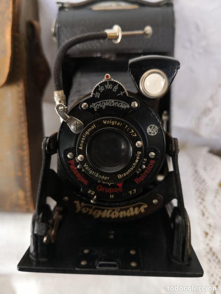 Cámara de fotos: VOIGTLANDER BESSA - CAMARA DE FUELLE - 1929-LENTE VOIGTAR 1:7,7 - Foto 3 - 153895042