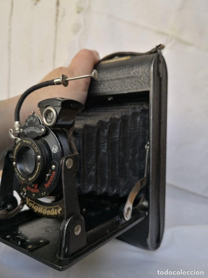 Cámara de fotos: VOIGTLANDER BESSA - CAMARA DE FUELLE - 1929-LENTE VOIGTAR 1:7,7 - Foto 5 - 153895042
