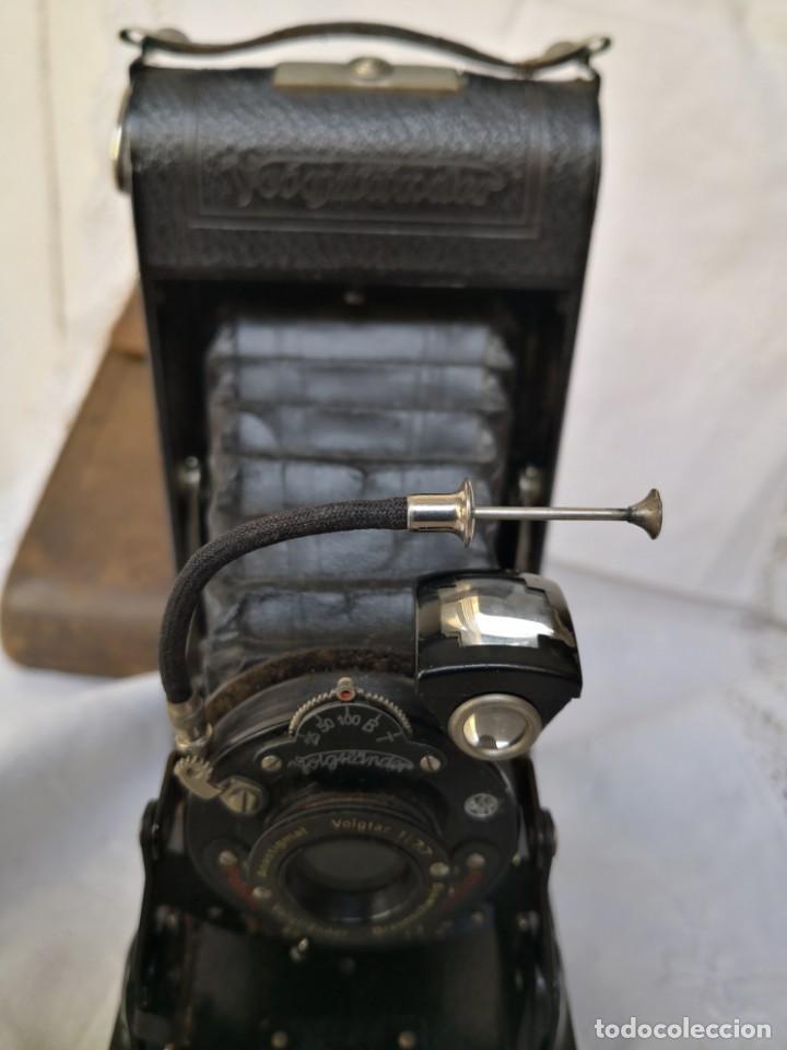 Cámara de fotos: VOIGTLANDER BESSA - CAMARA DE FUELLE - 1929-LENTE VOIGTAR 1:7,7 - Foto 6 - 153895042