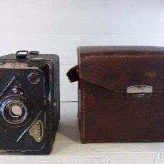 Cámara de fotos: CAMARA BILORA BOX.1935.PRIMER MODELO.CON FUNDA.OFERTA.RARA. Lote 154952626