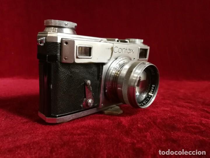 Cámara de fotos: CAMARA DE FOTOS RARA CONTAX II con objetivo CARL ZEISS JENNA 1,5 - T-5cm año aprox 1936 OPORTUNIDAD - Foto 7 - 155336490