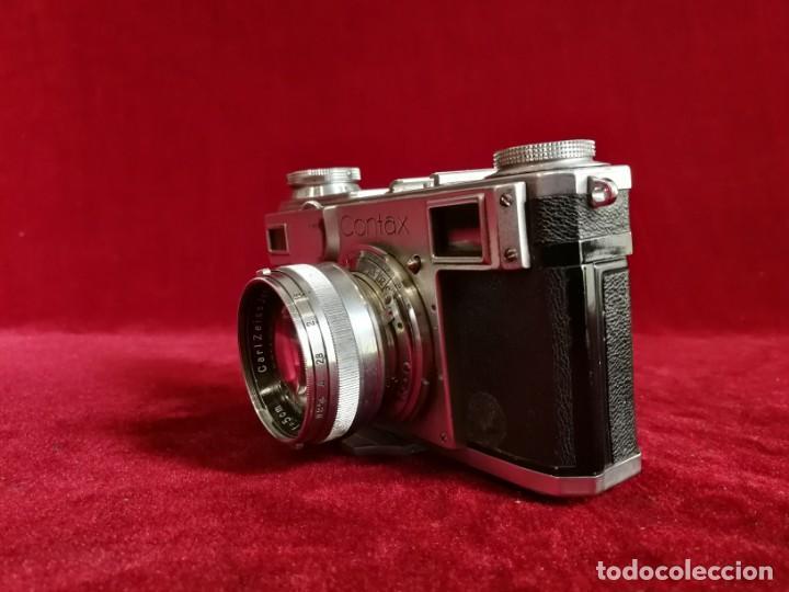 Cámara de fotos: CAMARA DE FOTOS RARA CONTAX II con objetivo CARL ZEISS JENNA 1,5 - T-5cm año aprox 1936 OPORTUNIDAD - Foto 10 - 155336490