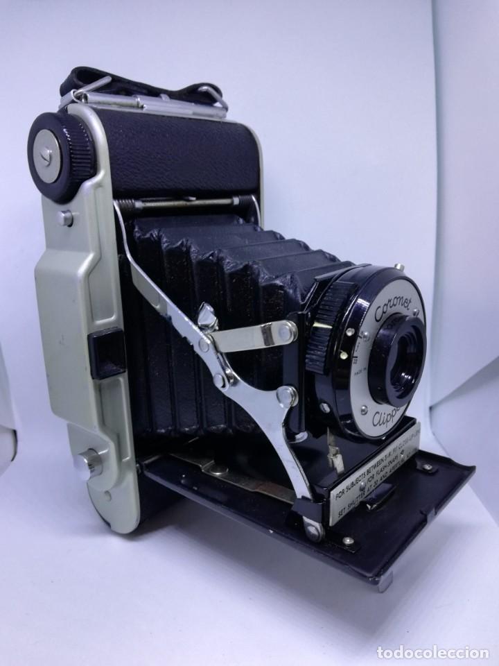 Cámara de fotos: Camara Coronet Clipper muy excepcional y rara de fuelle antigua de coleccionismo vintage - Foto 11 - 157342450