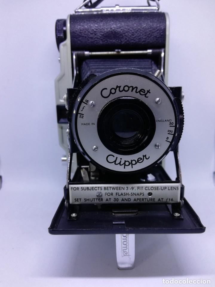 Cámara de fotos: Camara Coronet Clipper muy excepcional y rara de fuelle antigua de coleccionismo vintage - Foto 12 - 157342450