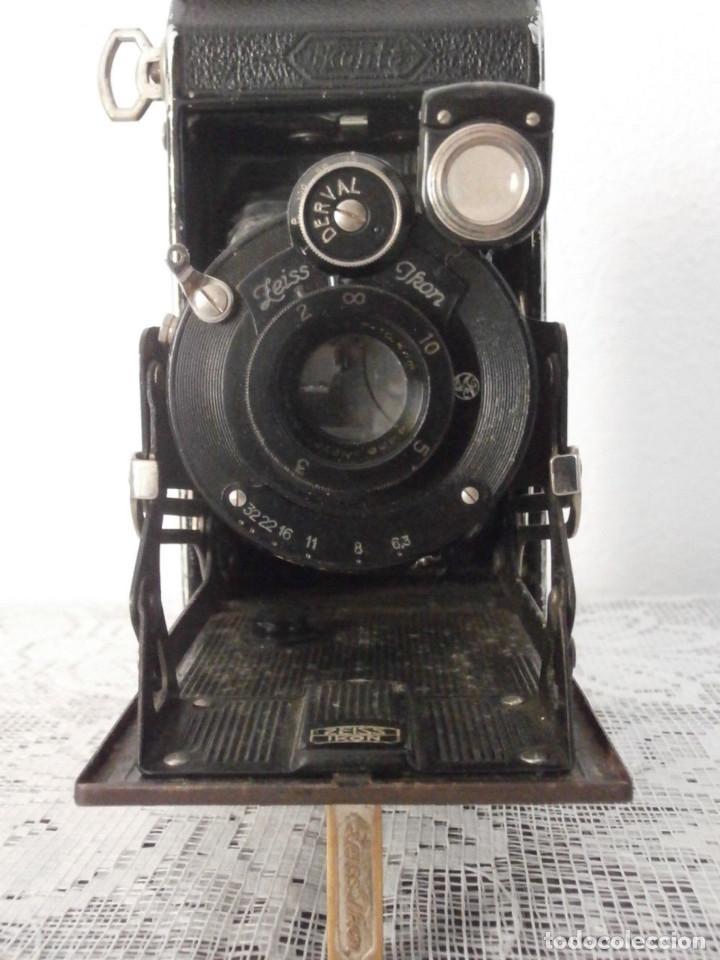 Cámara de fotos: Antigua cámara fotos fotográfica alemana fuelle plegable marca Zeiss Ikon Ikonta 520/2 año 1929/37 - Foto 3 - 159806030