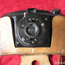 Fotocamere: CÁMARA DE FOTOS PHOTAX BAQUELITA, MADE IN FRANCE CON FUNDA DE CUERO ORIGINAL Y CARRETE. Lote 160657582