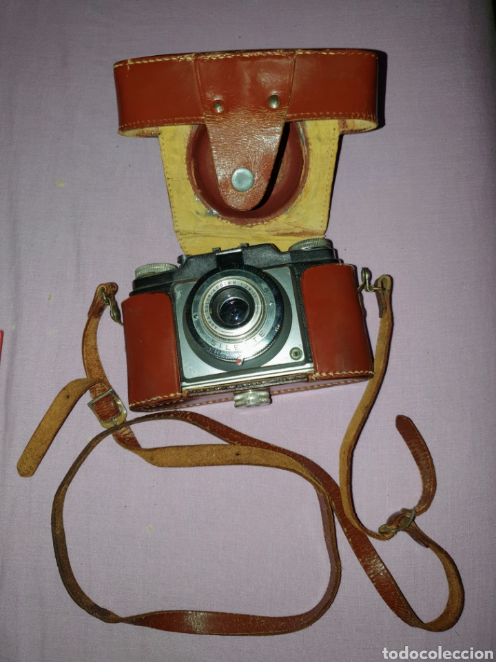 ANTIGUA CÁMARA ANALÓGICA FOTOGRÁFICA MARCA AGFA COLOR SILETTE. CON SU FUNDA (Cámaras Fotográficas - Antiguas (hasta 1950))